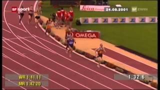 Юрий Борзаковский, Рекорд России-1.42.47. Брюссель 24.08.2001