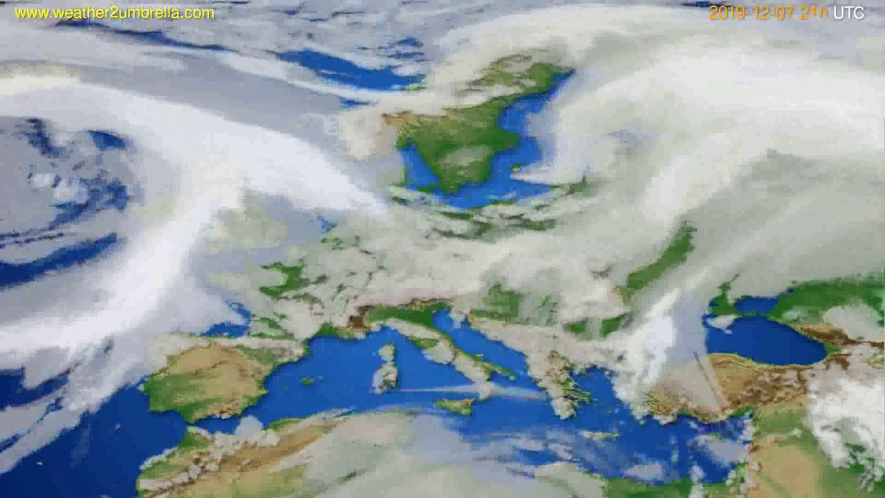 Cloud forecast Europe // modelrun: 00h UTC 2019-12-06