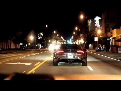 Justin Bieber driving his Chrome Fisker Karma in Miami