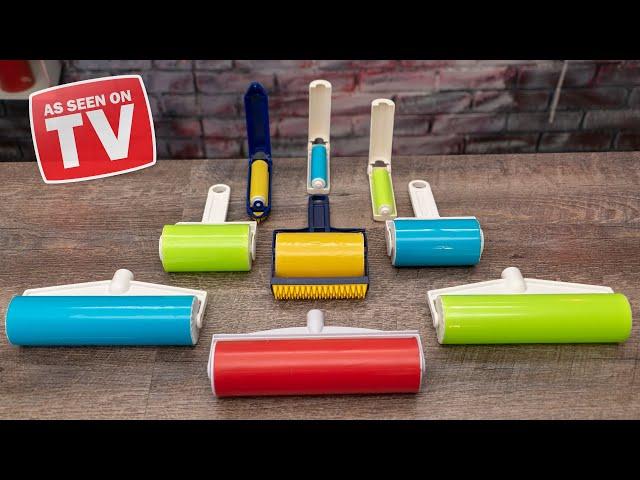 As Seen On TV Sticky Rollers TESTED! (Sticky Buddy, Schticky