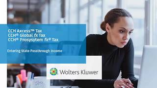 CCH® Axcess™/ ProSystem Fx®/ Global Fx Tax: Entering State Passthrough Activites