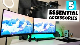 My 5 ESSENTIAL Desk Accessories (Gaming/Stream/Production)