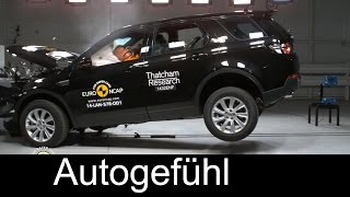 All-new Land Rover Discovery Sport 2015 crash test & AEB Autonomous Emergency Braking