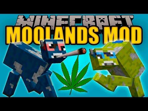 MOOLANDS MOD - Las vacas DROGADICTAS!! - Minecraft mod 1.10.2 Review ESPAÑOL