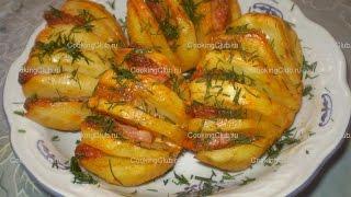 Картошка гармошка запечённая в мультиварке
