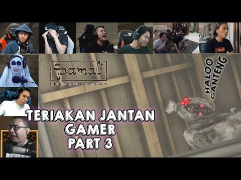 TERIAKAN JANTAN GAMER DIJUMPSCARE POCONG PAMALI PART 3 (END)
