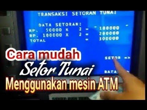 Cara penggunaan mesin setoran tunai ATM BRI