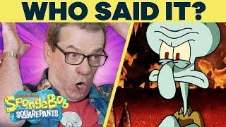 Squidward or Kanye West?! 🗣️ WHO Said It? w/ SpongeBob Cast @ Comic-Con | #SpongeBobSaturdays