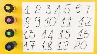 🔢 Bé học đếm số từ 1 đến 20 | Cùng bé học viết số thật vui và siêu dễ nhớ | Bé nhận biết số đếm