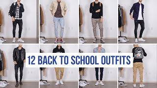 12 Stylish Back To School Outfits | Men's Fashion | Outfit Ideas