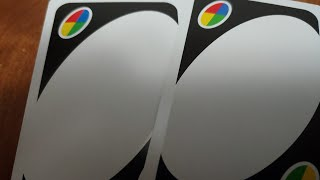 What should go on the blank wild UNO card?