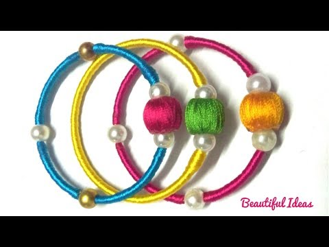 How to Make Silk thread Designer Fancy Bangles/Latest Thread Designer Bangles Making at Home/DIY/