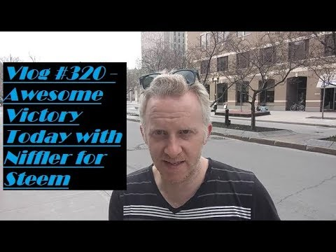 Vlog #320 - Awesome Victory Today with Niffler for Steem