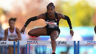 Albi 2020 : Finale 100 m haies (Cyréna Samba-Mayela en 12''73)