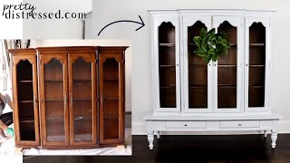 Ceramic Paint China Hutch Makeover | Is It Like Chalk Paint?