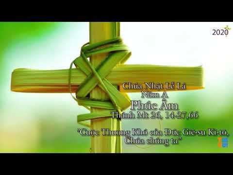 Chúa Nhật Lễ Lá – Năm A – Tưởng niệm cuộc thương khó Chúa Giêsu