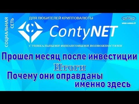 ContyNet - Прошел месяц после инвестиции. Итоги. Почему они оправданы именно здесь, 23 Октября 2018