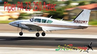 Piper PA-23-250 Aztec (N902MT) in action @ St. Kitts Robert L. Bradshaw Int'l Airport