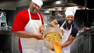 Cooking Gumbo Louisiana Style w/ NBA Champ Glen Davis!