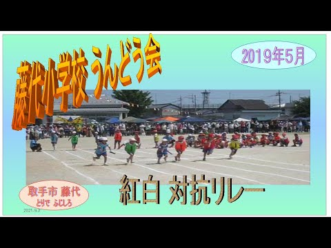 藤代小学校・運動会2019年紅白対抗リレー