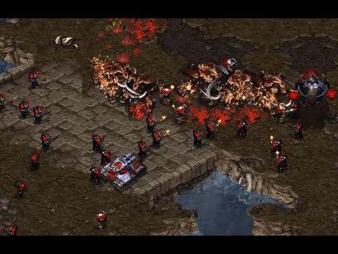 EPIC - Sharp (T) v Terror (Z) on Fighting Spirit - StarCraft  - Brood War REMASTERED
