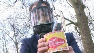 Жесть !!!  Пожар ест Сюрстремминг (Surströmming).