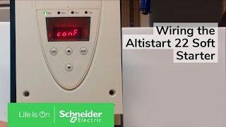 Wiring the Altistart 22 Soft Starter w/ S6U Suffix for 2 Wire Control