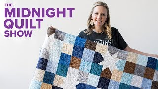 Scrappy Charm Square Star Quilt | Midnight Quilt Show With Angela Walters
