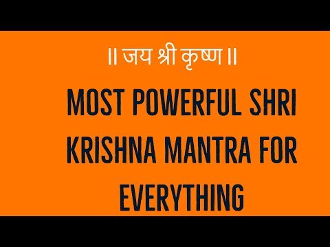 Most Powerful Shri Krishna Mantra for Everything - Prophet666
