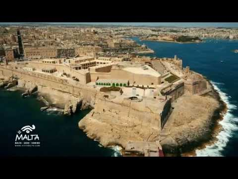 VALLETTA AND GRAND HARBOUR FROM THE AIR