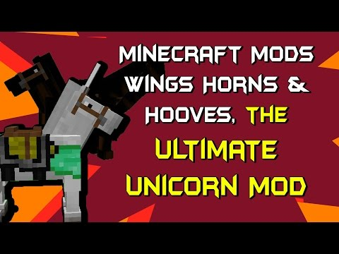 Minecraft Mods - Wings Horns & Hooves, the Ultimate Unicorn Mod