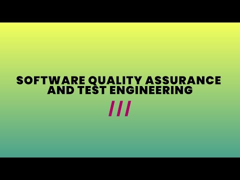 Software Quality Assurance and Test Engineering (1447)