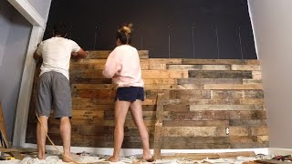 DIY BEDROOM WALL MAKEOVER ON A BUDGET // SMALL BEDROOM DIY // RUSTIC FARMHOUSE