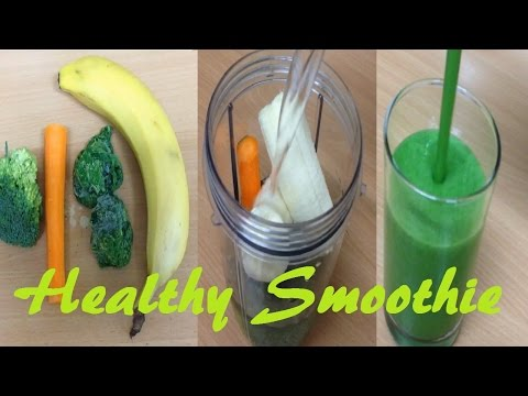 Video Healthy Green smoothie carrot broccoli spinach banana