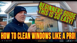 How to clean windows like a pro, for beginners. Window cleaning like a boss.