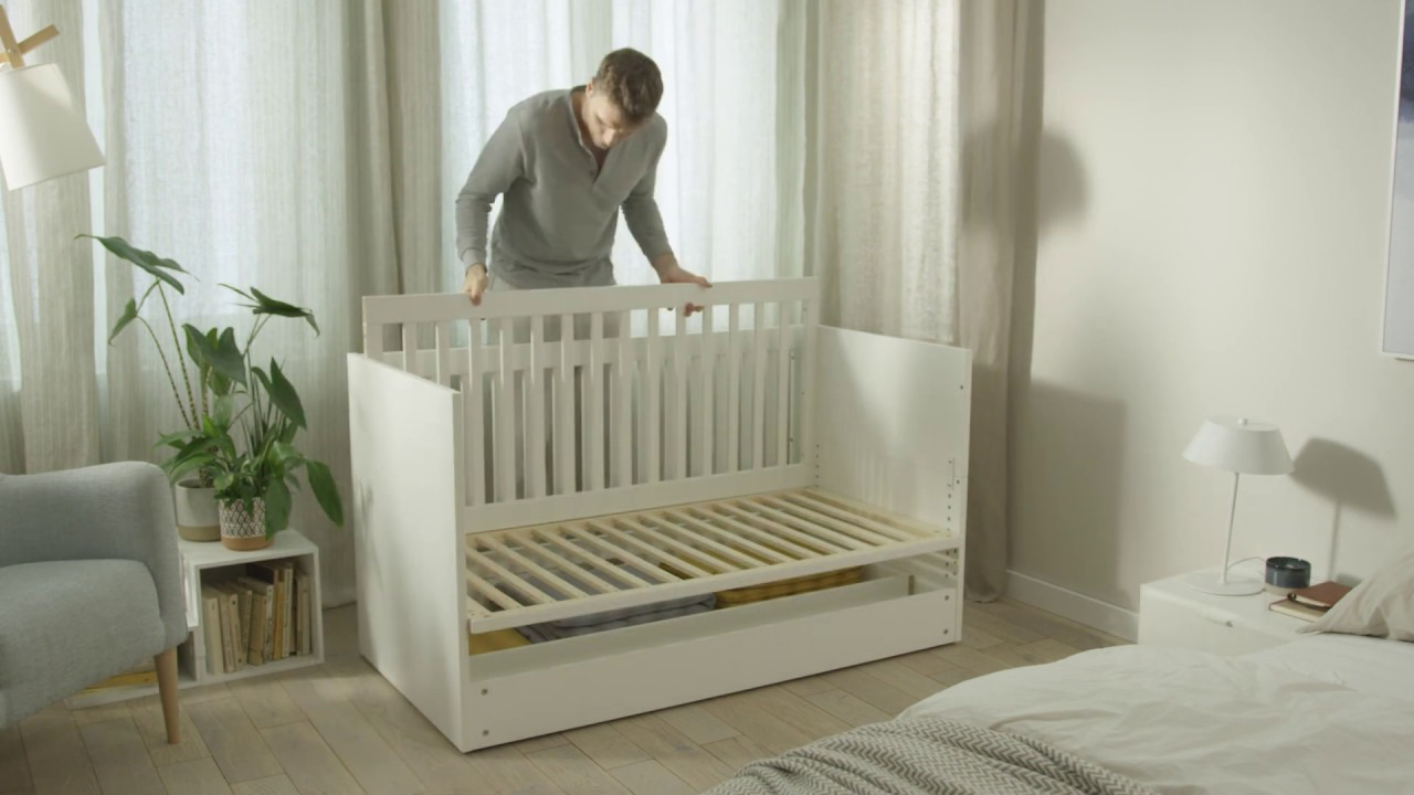 Vox Simple Cot Bed with Storage Drawer & Simple Baby Changing Unit