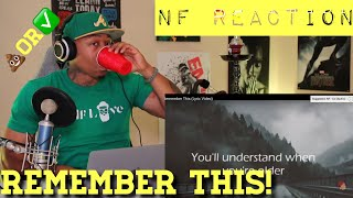 TRASH or PASS! NF (Remember This) [REACTION]