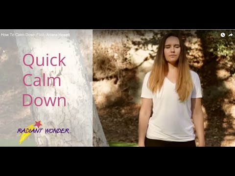 How To Calm Down Fast