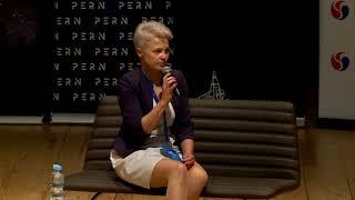 Rozmowa z Panią Prezes GC Energy podczas paneli plenarnych