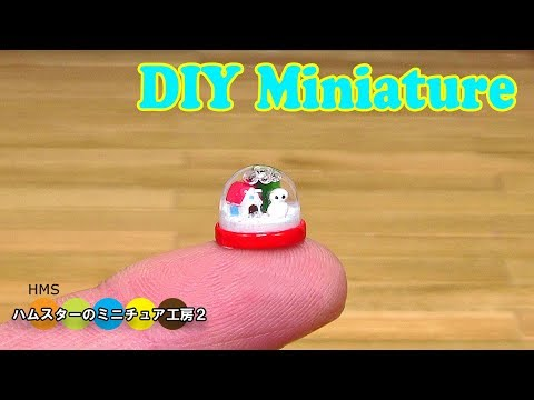Making a Tiny Snow Globe