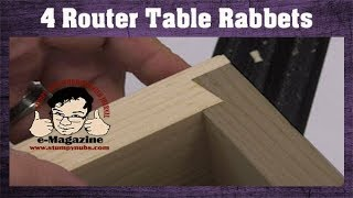 Have you ever used these 4 clever router table rabbet joints?