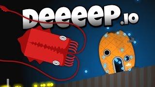 Deeeep.io - The Amazing Giant Squid! - New Animals! - Let's Pl...