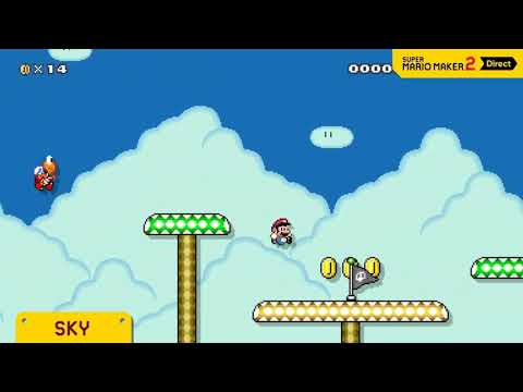 Night Mode & Level Themes in Super Mario Maker 2 (Nintendo Direct)