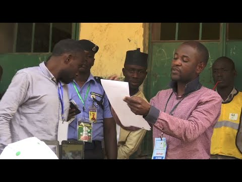 Vote counting in the delayed presidential election was underway in Kano, northern Nigeria, on Saturday. (Feb. 23)