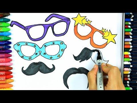 Come disegnare occhiali da sole da festa 🎉 | Colorare | Disegno | Come colorare per bambini