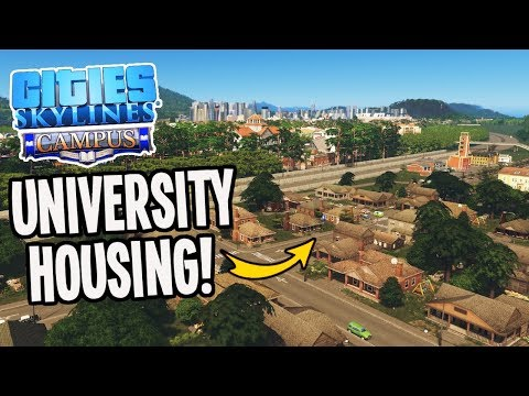 Cheap University Housing for my Students in Cities Skylines Campus DLC