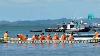preview picture of video 'Tawau Dragon Boat Race 2012 - Mens Team'