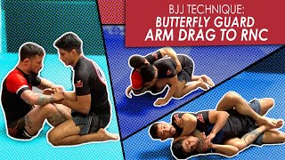 Butterfly Guard | arm drags & taking the back | Jiu Jitsu technique