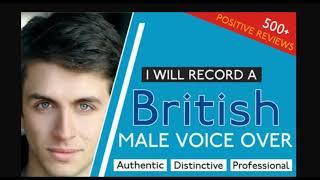 I will record a british male voice over