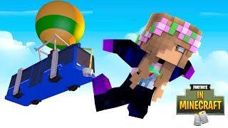 SUCKED INTO FORTNITE FROM MINECRAFT?! | Minecraft Fortnite In Minecraft | Little Kelly